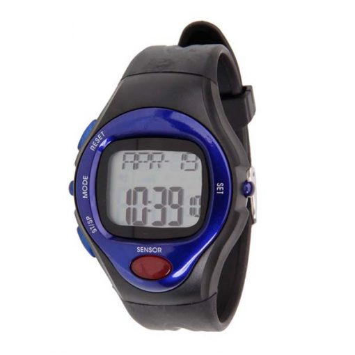 Heart Rate Monitor Calories Counter Watch - Blue
