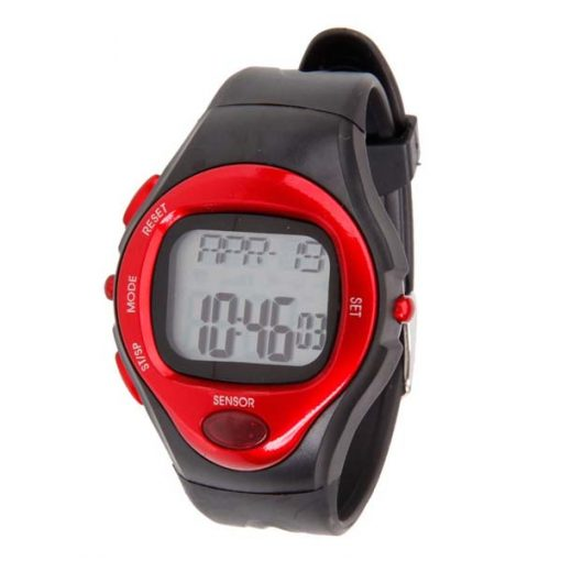 Heart Rate Monitor Calories Counter Watch - Red