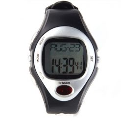 Heart Rate Monitor Calories Counter Watch - White