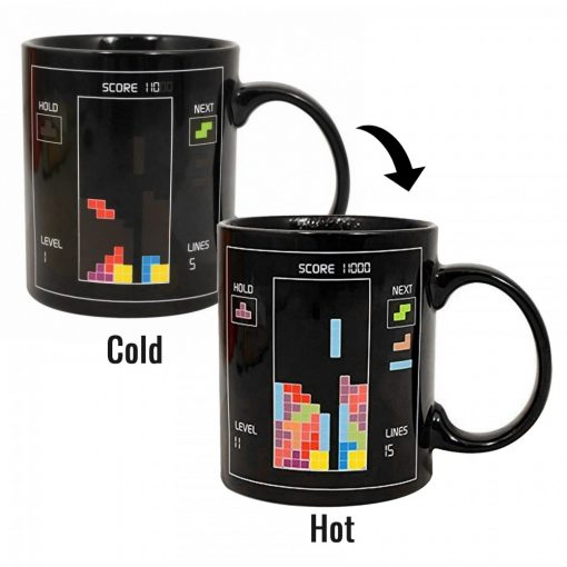 Heat Sensitive Tetris Coffee Mug - Black