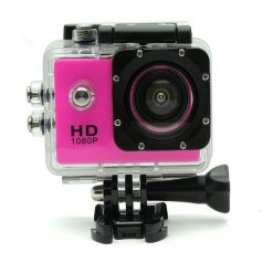 12 MP Photo Resolution 12 MP Image Sensor  WIFI Action Camera with 2 inch LCD Monitor - Pink