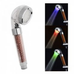High Pressure Filtered Shower Head With 3 Colors Water Temperature Indicator