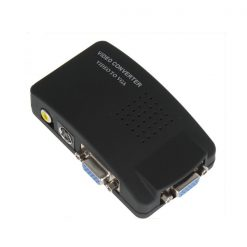 High Resolution BNC AV And S-Video to VGA Adaptor - Black