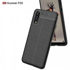 Huawei P20 Autofocus Silicone Back Cover Case - Black