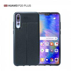 Huawei P20 Plus Autofocus Silicon Back Cover Case - Black