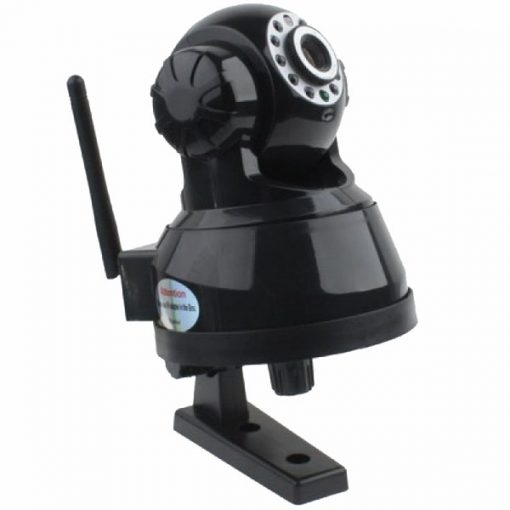 Phone APP Controlled Indoor P2P MJPEG IP Camera With Pan Tilt And Zoom - Black