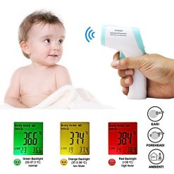 2 in 1 Digital Infrared Forehead & Body Thermometer - Blue