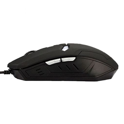 Iron Man 2000 DPI Wired Gaming Mouse - Black