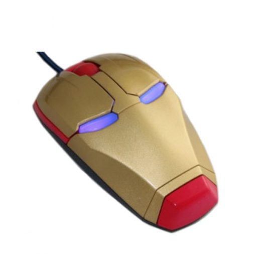 Iron Man Wired 3D Optical Mouse - Red/Gold