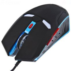 Iron Man 2000 DPI Wired Gaming Mouse - Black/Blue