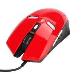Iron Man 2000 DPI Wired Gaming Mouse - Red