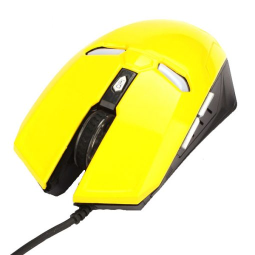 Iron Man 2000 DPI Wired Gaming Mouse - Yellow