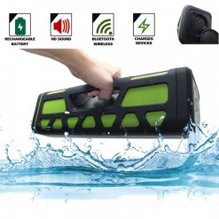 Outdoor Bluetooth Speaker With 2000 MAH Powerbank- Green