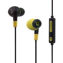 JKR Wireless Bluetooth Sports In-ear Earphone - Yellow