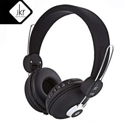 JKR 110 3.5MM Plug Wired Stereo HiFi Music Headphones - Black