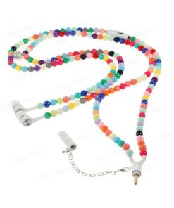 3.5mm Necklace Headphone With Mic In Assorted Pearl Design