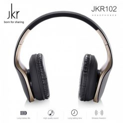 JKR 3.5mm Wired Stereo Headphone - Gold