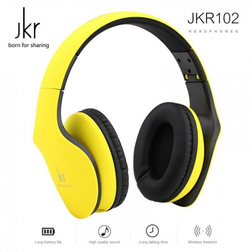 JKR 3.5mm Wired Stereo Headphone - Yellow