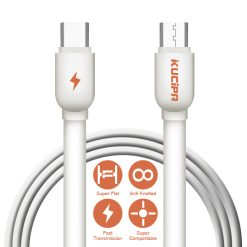 Kucipa 1 Meter Type-C To Type-C Data and Charging Cable - White