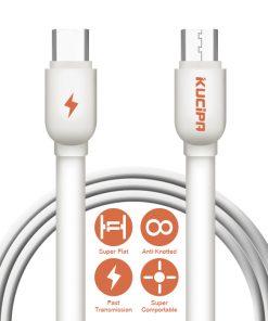 Kucipa 1 Meter Type-C To Type-C Data and Charging Cable - White