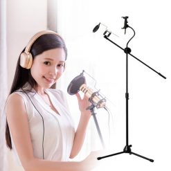 Idol K8 Microphone Center Stage Stand with Pop Filter Tripod - Black