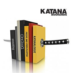 Magnetic Katana Bookends Shelf Rack - Black