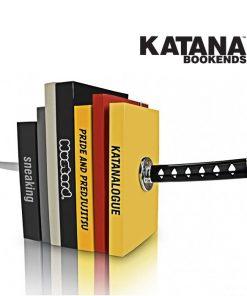 Magnetic Katana Bookends Shelf Rack - Black