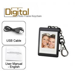 Keychain With Digital Photo Frame - Black