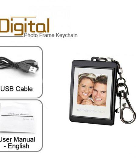 Keychain With Digital Photo Frame - Black