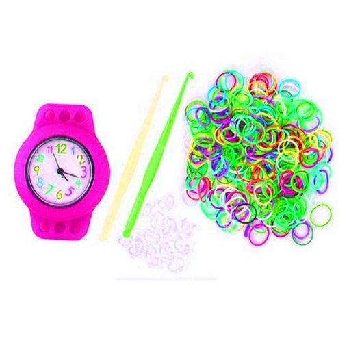 Kiddie Loom Watch Bracelet - Pink