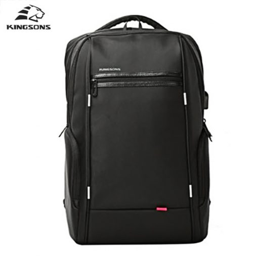 Kingsons 15.6 inch Notebook Power Series Backpack With Powerbank Outlet - Black