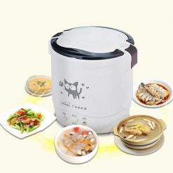1L Korean Mini Electric Rice Cooker - White