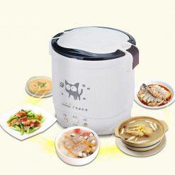 1L Korean Mini Electric Rice Cooker - White