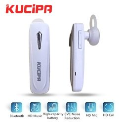 Kucipa Wireless Smart Business Bluetooth Headset - White