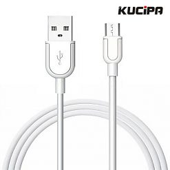 Kucipa K115 Souffle 1 Meter Fast Charging Data Cable - White