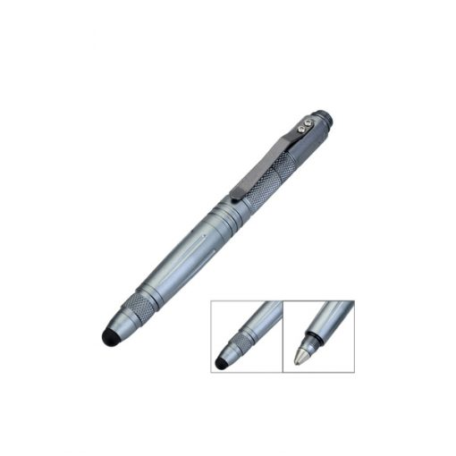 LAIX Multifunction Tactical Self Defence Survival Pen - Silver