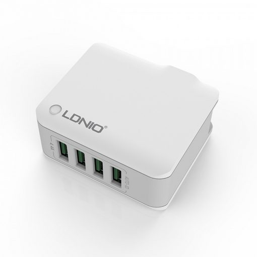LDNIO A4403 4 Auto ID Intelligent USB Port Charger - White