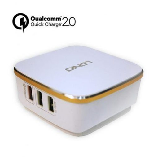 LDNIO Quick Charge  6 Port USB Smart Charger Adapter - White