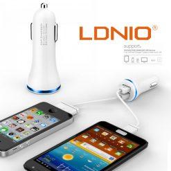 LDNIO High Quality Dual USB Car Charger - Blue
