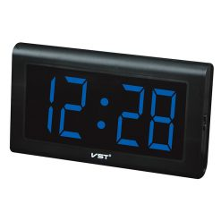 LED Digital Wall Clock - Black