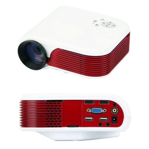 150 Lumens Portable LED Projector With TV Tuner - White/Red