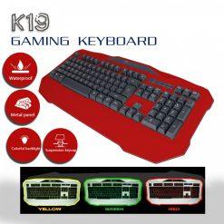 LEIJIE K19 3 Color Backlit Gaming Keyboard - Red