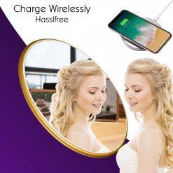 QI Mirror Wireless Charging Pad - Gold