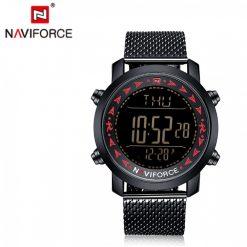 Naviforce 9130 30M Water Resistant Digital Watch - Black