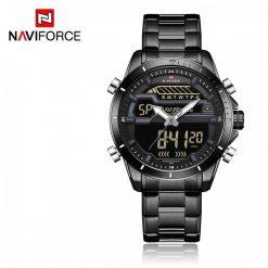 Naviforce 9133 Dual Display Watch - Silver