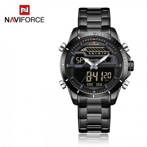 Naviforce 9133 Dual Display Watch - Silver
