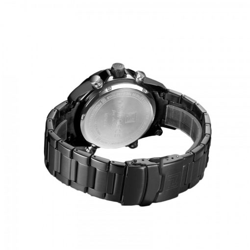 Naviforce 9138 Water Resistant Quartz Dual Display Watch - Black