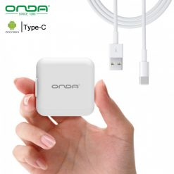 Onda A11 Foldable Fast Charger With Type-C Cable - White