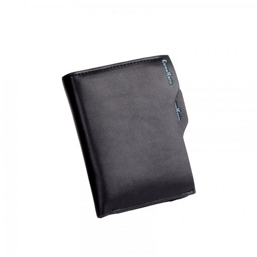 Curewe Kerien Leather Zipper Purse Wallet - Black
