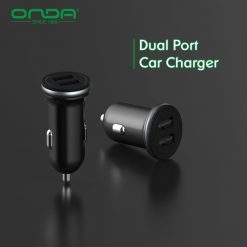 Onda CZ01 Dual Port Usb Charger - Black